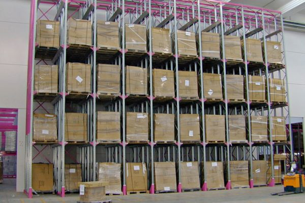 Iron Fist Drive In pallet racking system